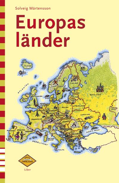 Karta Lander I Europa.Lilla Uppslaget Europas Lander